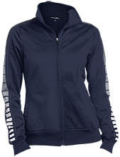 Montpelier Schools Locomotives Ladies Dot Print Warm Up Jacket