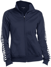 Alexander Wilson Elementary Panthers Ladies Dot Print Warm Up Jacket