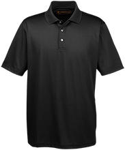 School Men's Snap Placket Performance Polo
