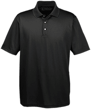 Breast Cancer Men's Snap Placket Performance Polo