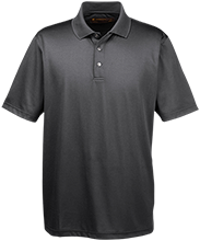 Eagle Academy School Men's Snap Placket Performance Polo