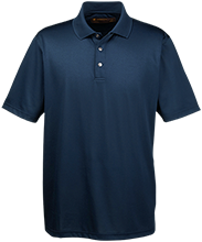 Earle B Wood Middle School Mustangs Men's Snap Placket Performance Polo