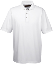 Akiva School Men's Snap Placket Performance Polo