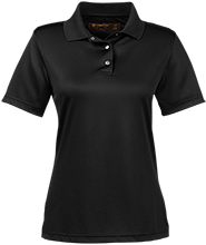 Little Mountain Elementary School Mustangs Ladies Snap Placket Performance Polo