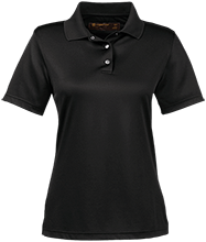 School Ladies Snap Placket Performance Polo