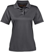 Anansi Charter School Ladies Snap Placket Performance Polo