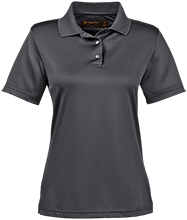 Barcelona Elementary School Bobcats Ladies Snap Placket Performance Polo