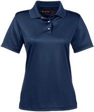 Hibbett Middle School Hawks Ladies Snap Placket Performance Polo