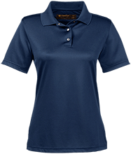 A R Carethers Academy Eagles Ladies Snap Placket Performance Polo