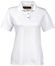 Milnor High School Bison Ladies Snap Placket Performance Polo