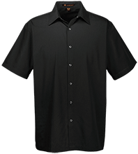 Breast Cancer Men's Snap Closure Short Sleeve Shirt