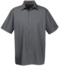 Fairmount Elementary School Bison Men's Snap Closure Short Sleeve Shirt