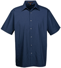 Lansing Eastern High School Quakers Men's Snap Closure Short Sleeve Shirt