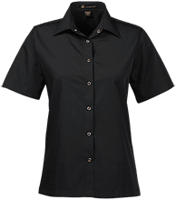 Barstow Intermediate School Cougars Ladies Snap Closure Short-Sleeve Shirt