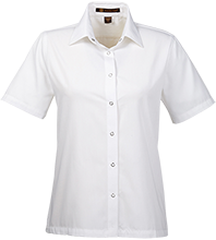 Annunciation School School Ladies Snap Closure Short-Sleeve Shirt