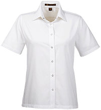 Pedee Elementary School Pioneers Ladies Snap Closure Short-Sleeve Shirt