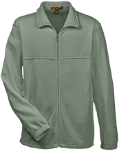 Fitness Embroidered Fleece Full-Zip