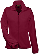 Nutley High School Maroon Raiders Womens Fleece Jacket