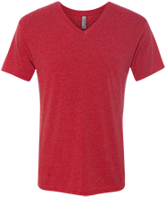 North Quincy High School Red Raiders Men's Next Level Triblend V-Neck T-Shirt