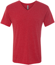 HTR Christian School Indians Men's Next Level Triblend V-Neck T-Shirt