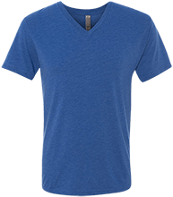 W T Francisco Elementary School Lions Men's Next Level Triblend V-Neck T-Shirt