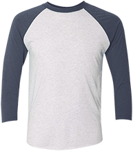 Lansing Eastern High School Quakers Unisex Tri-Blend Three-Quarter Sleeve Baseball Raglan T-Shirt