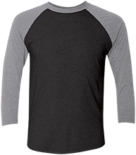 Albert Gallatin North MS Colonials Unisex Tri-Blend Three-Quarter Sleeve Baseball Raglan T-Shirt