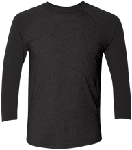 Custom Company Logo Unisex Tri-Blend Three-Quarter Sleeve Baseball Raglan T-Shirt