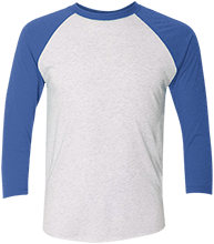 Malverne High School Unisex Tri-Blend Three-Quarter Sleeve Baseball Raglan T-Shirt