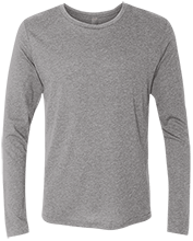Softball Next Level Men's Tri-Blend Long Sleeve T-Shirt