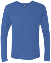 Malverne High School Next Level Men's Tri-Blend Long Sleeve T-Shirt