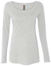 Manchester East Soccer Next Level Ladies' Triblend Long-Sleeve Scoop