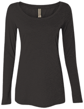 Breast Cancer Next Level Ladies' Triblend Long-Sleeve Scoop