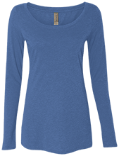 Malverne High School Next Level Ladies' Triblend Long-Sleeve Scoop