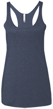 Lansing Eastern High School Quakers Next Level Ladies' Triblend Racerback Tank