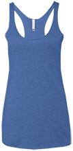 Malverne High School Next Level Ladies' Triblend Racerback Tank