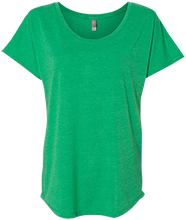 North Center School Frogs Next Level Ladies Triblend Dolman Sleeve