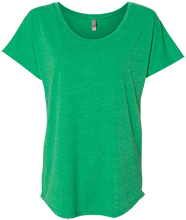 Emerald Junior High School Pirates Next Level Ladies Triblend Dolman Sleeve