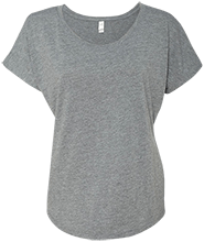 Memorial Junior High School-Mentor School Next Level Ladies Triblend Dolman Sleeve
