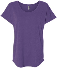 Califon Public School Cougars Next Level Ladies Triblend Dolman Sleeve