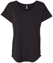 Bucyrus Middle School Redmans Next Level Ladies Triblend Dolman Sleeve