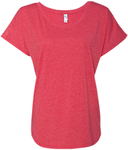 Stewartsville Elementary School Cardinals Next Level Ladies Triblend Dolman Sleeve