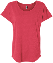 Lopez Elementary School Indians Next Level Ladies Triblend Dolman Sleeve