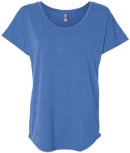 Wayne Elementary School Blue Devils Next Level Ladies Triblend Dolman Sleeve