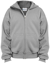 Hockey Youth Embroidered Full Zip Hoodie
