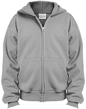 Football Youth Embroidered Full Zip Hoodie