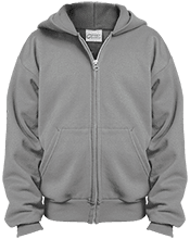 Doane College School Youth Embroidered Full Zip Hoodie