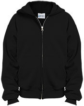 Edinburgh Middle School Lancers Youth Embroidered Full Zip Hoodie