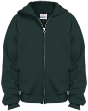 Dover High School Green Wave Youth Embroidered Full Zip Hoodie