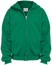 Fifth Street Middle School Green Waves Youth Embroidered Full Zip Hoodie